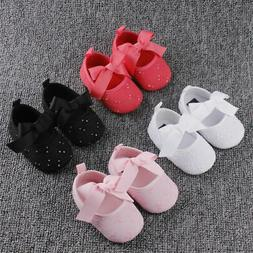 2019 Newborn Infant Baby Kids Shoes Girl Toddler Bowknot Sof