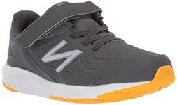 New Balance Boys' 519v1 Hook and Loop Running Shoe, Magnet/P