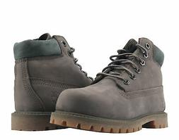 Timberland 6-Inch Premium Waterproof Dark Brown Nubuck Toddl