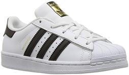adidas Kids' Superstar Foundation EL C Sneaker, White/Black/
