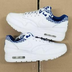 Nike Air Max 1 QS  Leather White Blue Indigo Youth Kid Sneak