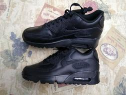 Nike Air Max 90 LTR Black/Black Big Kid's Running Shoes Size