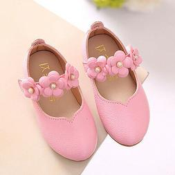 Baby Kids Soft Sole Leather Shoes Toddler Children Girls Cri