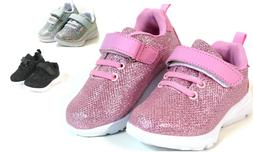 Baby Toddler Girls And Youth Kids Glitter Shoes Elastic Lace