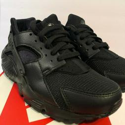 Nike Big Kids' HUARACHE RUN Running Triple Black 654275-016