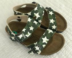 Birki Sandals by Birkenstock for Kids Boys Green Stars Size