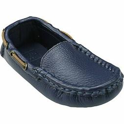Janie And Jack Boy's Leather Driver Shoe Ankle-High Moccasin