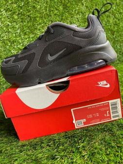 BOYS: Nike Air Max 200 Shoes, Black - Size 1Y AT5628-001