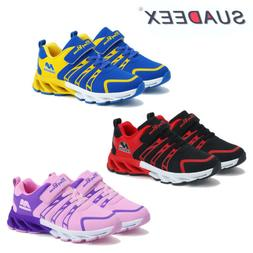 Boys Girls Breathable Lightweight Sneakers Kids Running Alth
