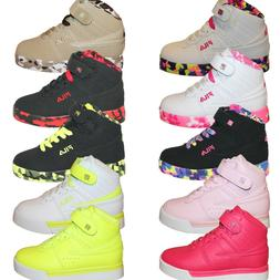 Boys Girls Kids Fila Vulc 13 Mashup Brights Neon Mid Sneaker