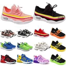 Boys Girls Running Walking Trainers Kids Children Casual Spo