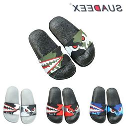 Boys Girls Summer Casual Slide Slippers Soft Kids Sandal Sli