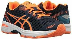 ASICS Boys' GT-1000 5 GS, Indigo Hot Orange/Thunder Blue, 3