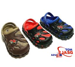 Boys Kids Garden Clogs Shoes Toddler Slip-On Casual Two-tone