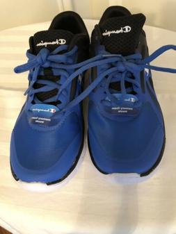 Boys Champion Shoes Size 4  Color: Blue & Black  With Memory