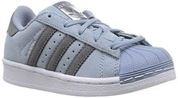 adidas Originals Boys' Superstar C Running Shoe, Tactile Blu