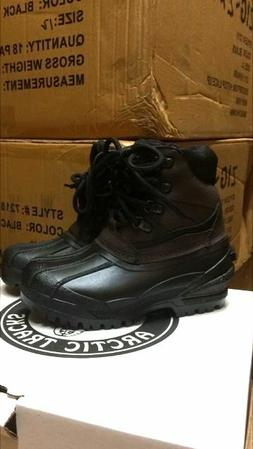 Brand New Brown/Black Boys Duck Boots High Top Sizes Big Kid