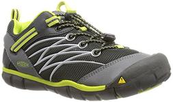 KEEN Chandler CNX Shoe ,Raven/Bright Chartreuse,2 M US Littl