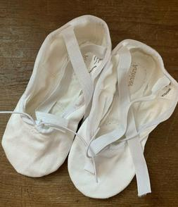 Arshiner Child's Ballet Flats White with Leather Sole Size 1