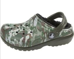 Classic Lined Crocs Kids Shoes Size C4 Or C5 Camo NEW