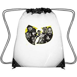CAPXIEeY Clear Drawstring Backpack Rock Band Decor Dancing B