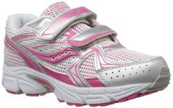 Saucony Girls Cohesion H&L Running Shoe ,Pink/Silver,11 XW U