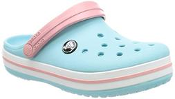 crocs Kids' Crocband K Clog,Ice Blue/White,13 M US Little Ki