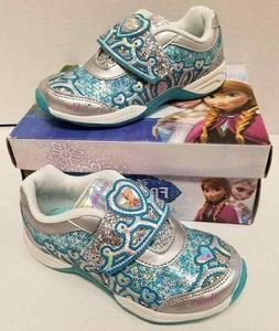 Stride Rite Disney Frozen Light-Up Sneaker ,Silver/Turquoise