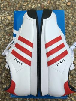 DISPLAY NEW Adidas Originals Samoa J Youth Sz 7 White Red Bl