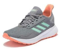 Adidas Duramo 9 Kids Shoes Gray Running Casual Sneakers Girl