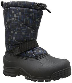 Northside Frosty Winter Boot ,Black/Blue,5 M US Big Kid