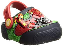 Crocs Kids' Fun Lab Light-Up Boys Graphic Clog, Robosaur Rex