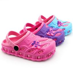 Garden Clogs Shoes For Girl Kids Toddler Slip-On Casual Two-