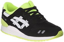ASICS Gel Lyte III GS Running Shoe , Black/White, 5 M US Big