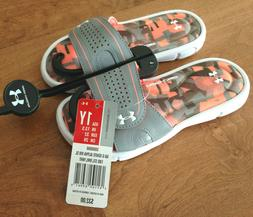 Girl's Size 1, 1Y Under Armour Ignite Alpha VIII Sandals Sli
