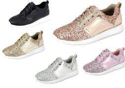 Girl's Youth Kids Sequin Glitter Athletic Shoes Casual Walki