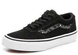 Vans Maddie  Girls Black White Cheetah Sneaker Skate Shoes