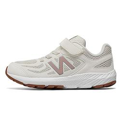 New Balance Girls' 519v1 Hook and Loop Running Shoe, sea Sal