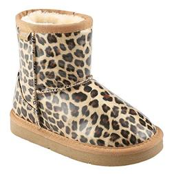 Arshiner Girls' Boys Warm Winter Fur Shoes Snow Boots, Leopa