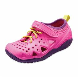 CROCS Girls' Children Size C12 Neon Magenta Swiftwater Relax