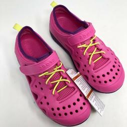Crocs Girls Swiftwater Play Shoe Neon Magenta Youth Size 3 N
