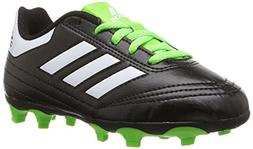 adidas Goletto VI FG J Soccer Shoe, Black/White/SGREEN, 10 M