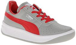 PUMA GV Special JR Sneaker  , Limestone Gray/High Risk Red/W