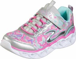 Skechers Heart Lights Silver Multi Color