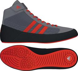 adidas HVC 2 K Youth Grey/Solar Red Wrestling Shoes 10