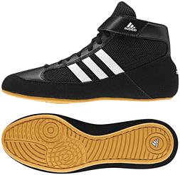 Adidas HVC 2 Youth Kids Wrestling Shoes AQ3327 Black/White/G