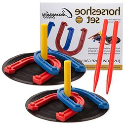Champion Sports Indoor/Outdoor Rubber Horseshoe Set, Case of