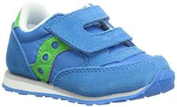 Saucony Boys' Baby Jazz HL Sneaker, Blue/Green, 10 Medium US