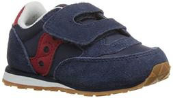 Saucony Boys' Baby Jazz HL  - Navy/Red - 7 Toddler