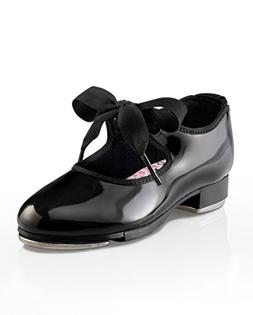 Capezio Dance Girls' Jr. Tyette N625 Black Patent Size 2 N
